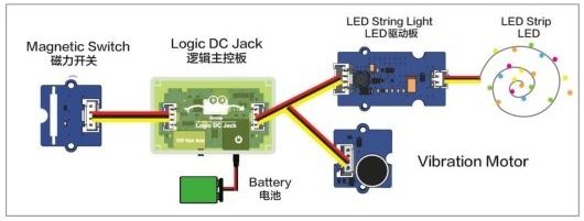 电学科技小制作(我是小创客):小牛吃草【磁力开关的应用】插图(3)