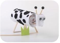 电学科技小制作(我是小创客):小牛吃草【磁力开关的应用】插图