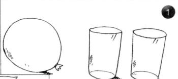 """力学小实验:给气球安""""耳朵""""——大气压强实验插图(1)"""
