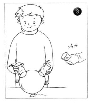 """力学小实验:给气球安""""耳朵""""——大气压强实验插图(3)"""