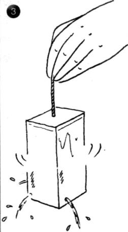 力学小实验:自动旋转的牛奶盒——作用力与反作用力插图(3)