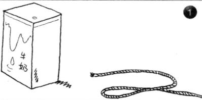 力学小实验:自动旋转的牛奶盒——作用力与反作用力插图(1)