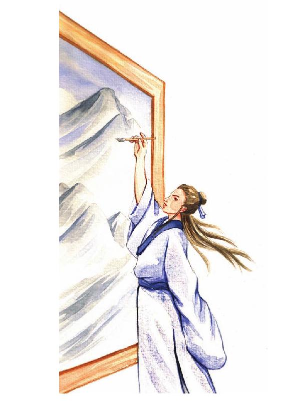 中国名人故事:细画水花的吴道子插图