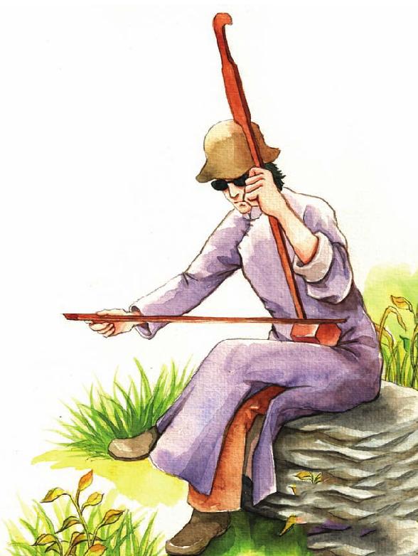 中国名人故事:苦旅一生的阿炳插图