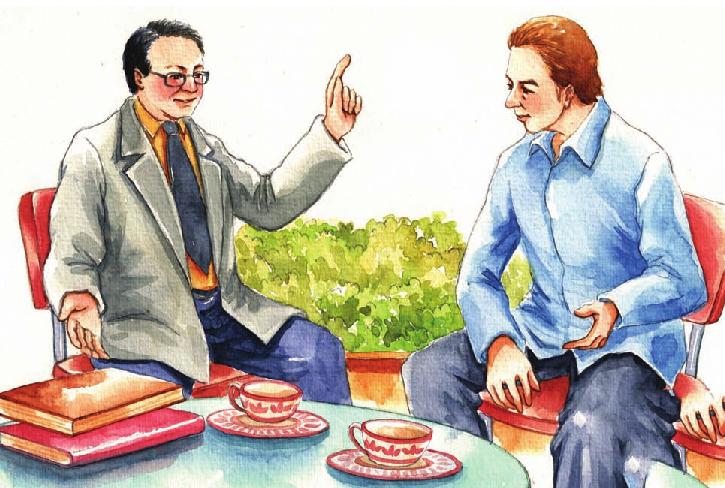 """中国名人故事:""""不为学位,只为学问""""的金庸插图"""