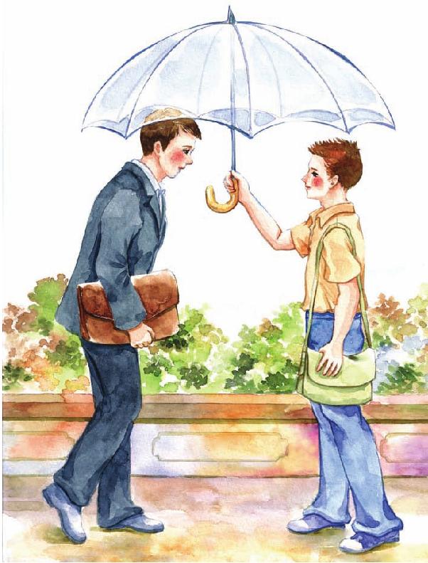 中国名人故事:还不回伞的李嘉诚插图