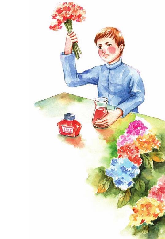 外国名人故事:让报春花变红的达尔文插图