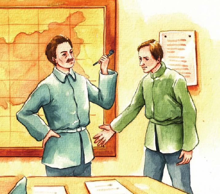 外国名人故事:坚持自己意见的朱可夫插图