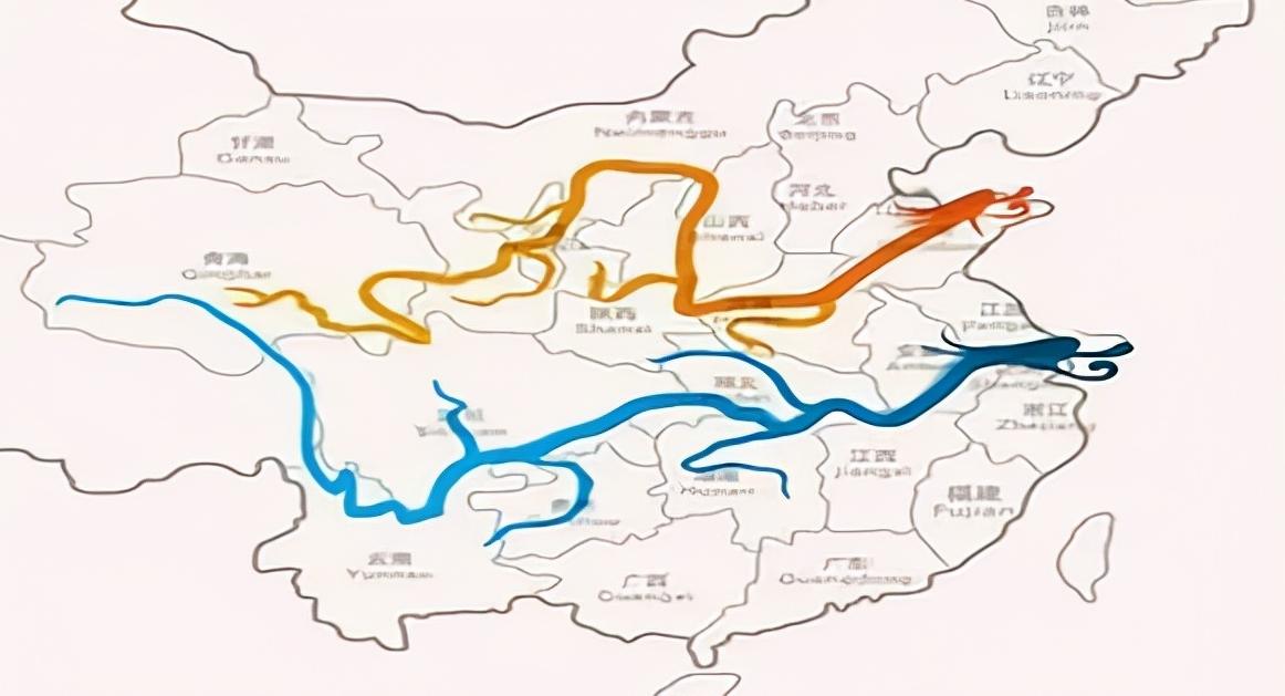 长江为何叫江,黄河为何叫河?简述江与河的差别。附:长江流域地形图和黄河流域示意图插图