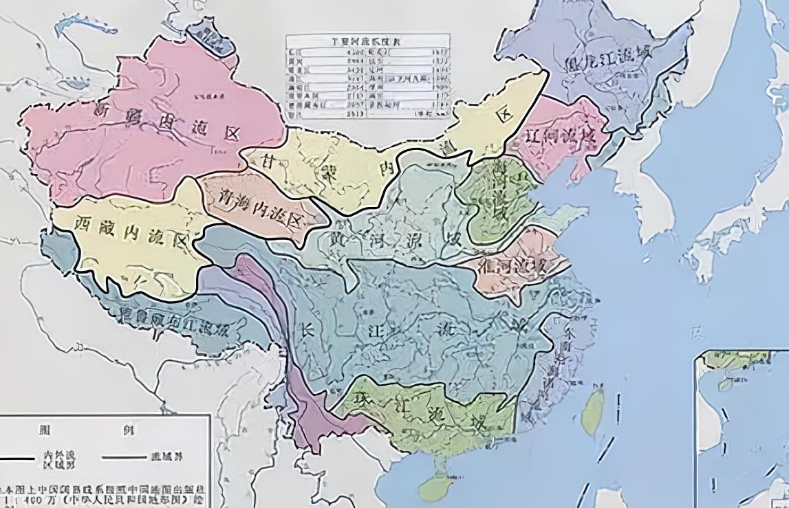 长江为何叫江,黄河为何叫河?简述江与河的差别。附:长江流域地形图和黄河流域示意图插图(1)