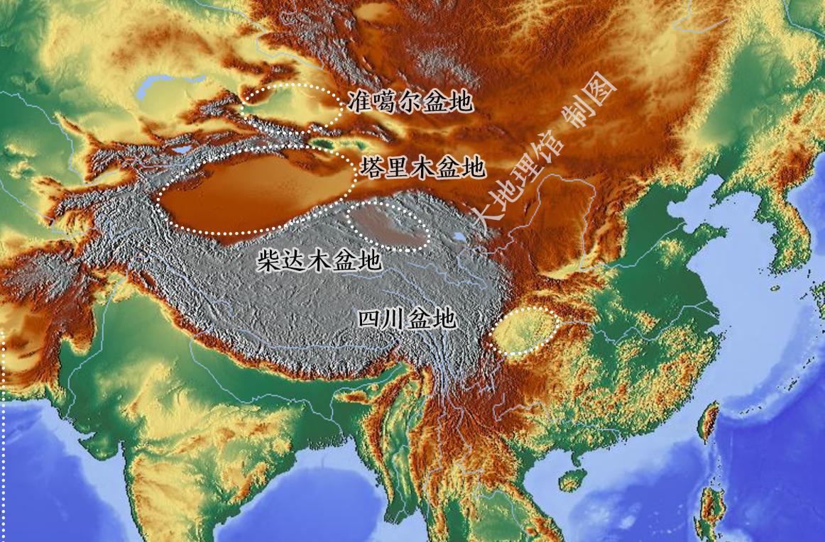 我国的四大盆地是哪四大盆地?我国海拔最高的盆地是哪个?插图