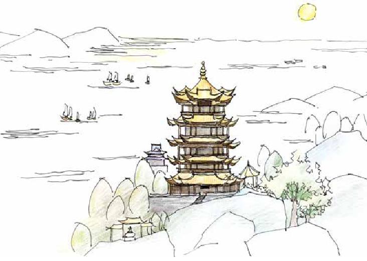 古诗词与地理:故人西辞黄鹤楼——李白登临的黄鹤楼和我们今天见到的黄鹤楼是同一座吗?插图