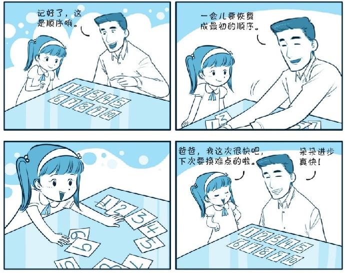 培养注意力的小游戏:还原杂乱的数字卡插图(1)