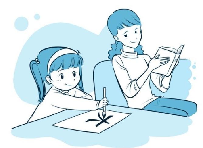 培养注意力的小游戏:练大字与打手背插图(1)