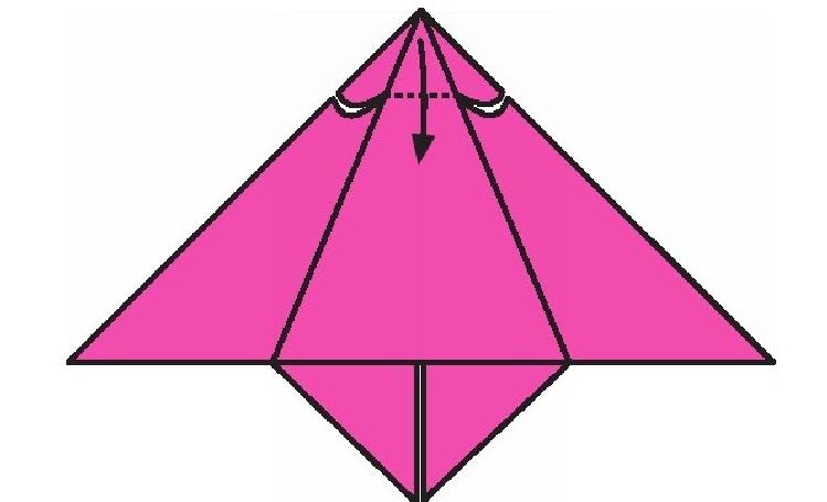 蝙蝠折纸教程(步骤图解——简单易做)插图(4)