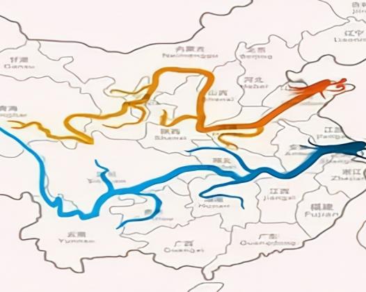 长江为何叫江,黄河为何叫河?简述江与河的差别。附:长江流域地形图和黄河流域示意图