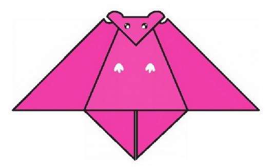 蝙蝠折纸教程(步骤图解——简单易做)
