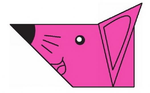 大耳鼠折纸教程(步骤图解——简单易做)
