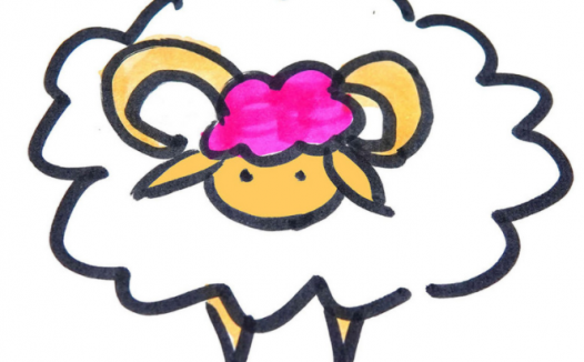 慢羊羊简笔画,彩色的慢羊羊怎么画